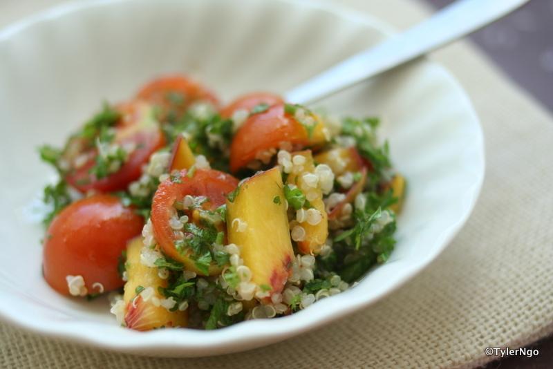 pas seulement faire bouillir de l 39 eau salade aux persil p ches quinoa. Black Bedroom Furniture Sets. Home Design Ideas