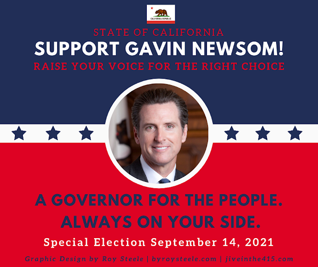 """An image optimized for Facebook that says """"Support Gavin Newsom"""""""