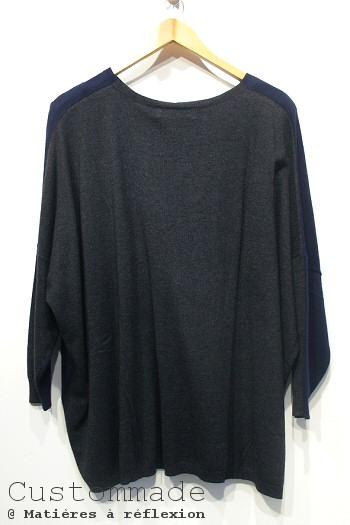 Pull gris bleu marine Dingear Custommade