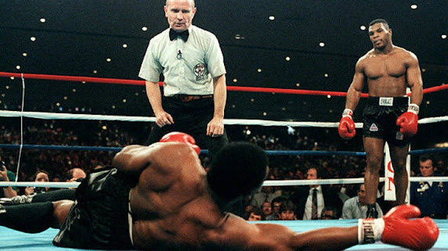 Mike Tyson Drops Marvis Fraizer