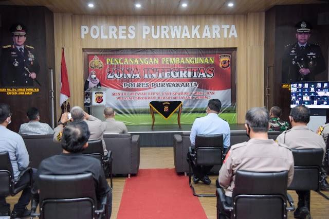 Bupati dan Unsur Forkopimda Deklarasikan Pencanangan Wilayah Bebas Korupsi di Purwakarta