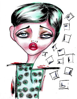 Bebee Pino green dots illustration