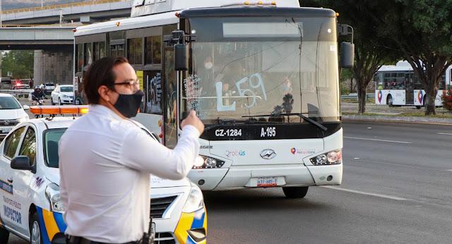 En el transporte público se intensifican operativos de prevención del COVID-19