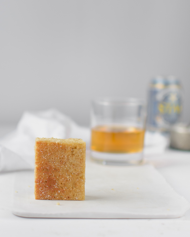 Bourbon barrel-aged blondies