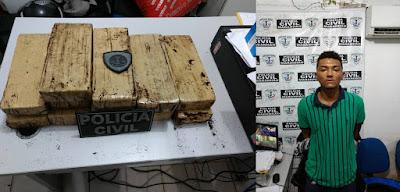 Homem é preso com 12 kg de Maconha em Itapecuru Mirim.