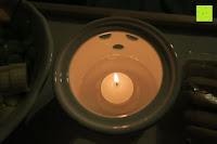 Sockel mit Teelicht: Janazala Schokoladen Fondue-Set Für 4 Personen, Auch Als Butter Und Käse Fondue Geeignet