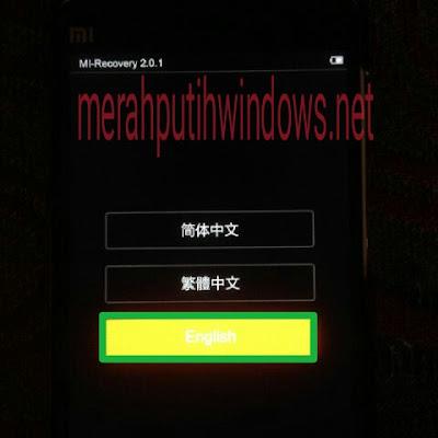 english recovery mode xiaomi mi4i