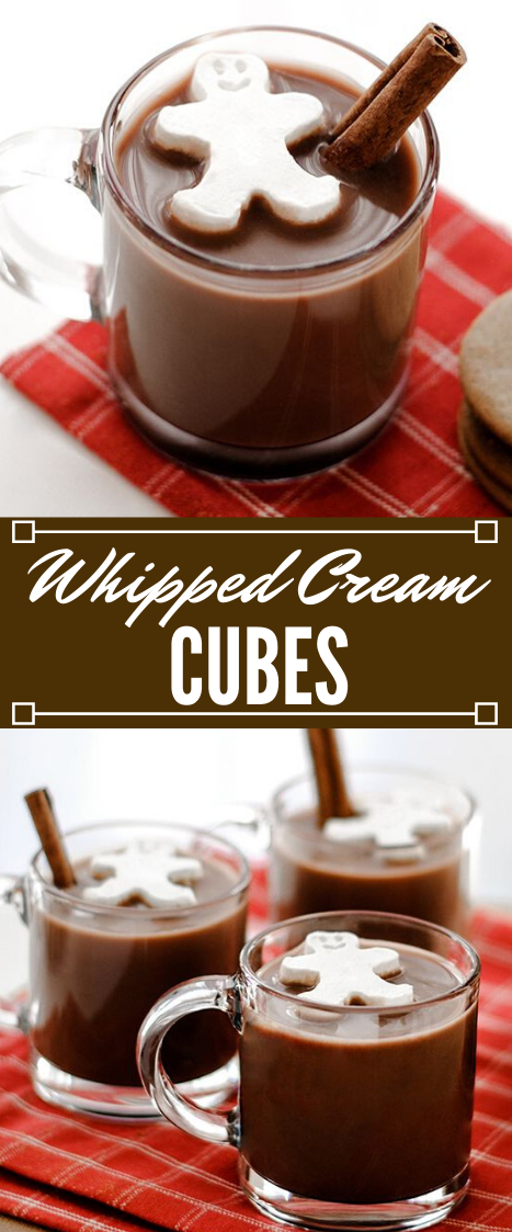 WHIPPED CREAM CUBES #cream #drink #easy #party #sangria