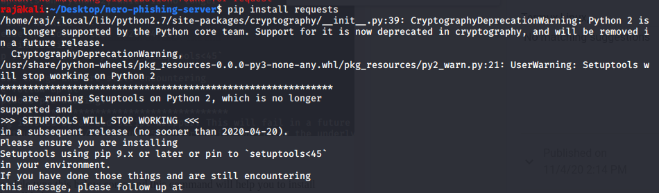 install the request python module