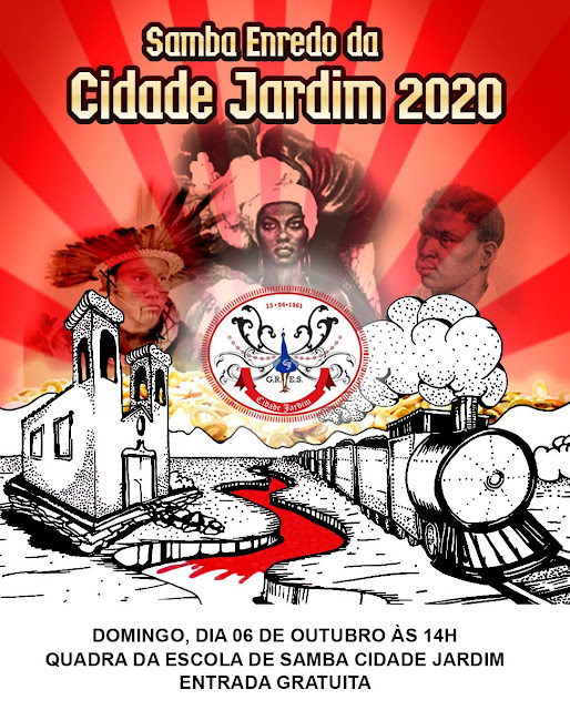 QUADRA CIDADE JARDIM TEM FINAL DE SAMBA ENREDO DOMINGO 06 DE OUTUBRO