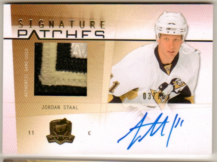 c66c29f220e 2009-10 The Cup Signature Patches #SPJS Jordan Staal /75