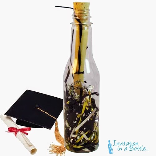 Message in a bottle invitations three top graduation party themes graduation party invitation bottle solutioingenieria Choice Image