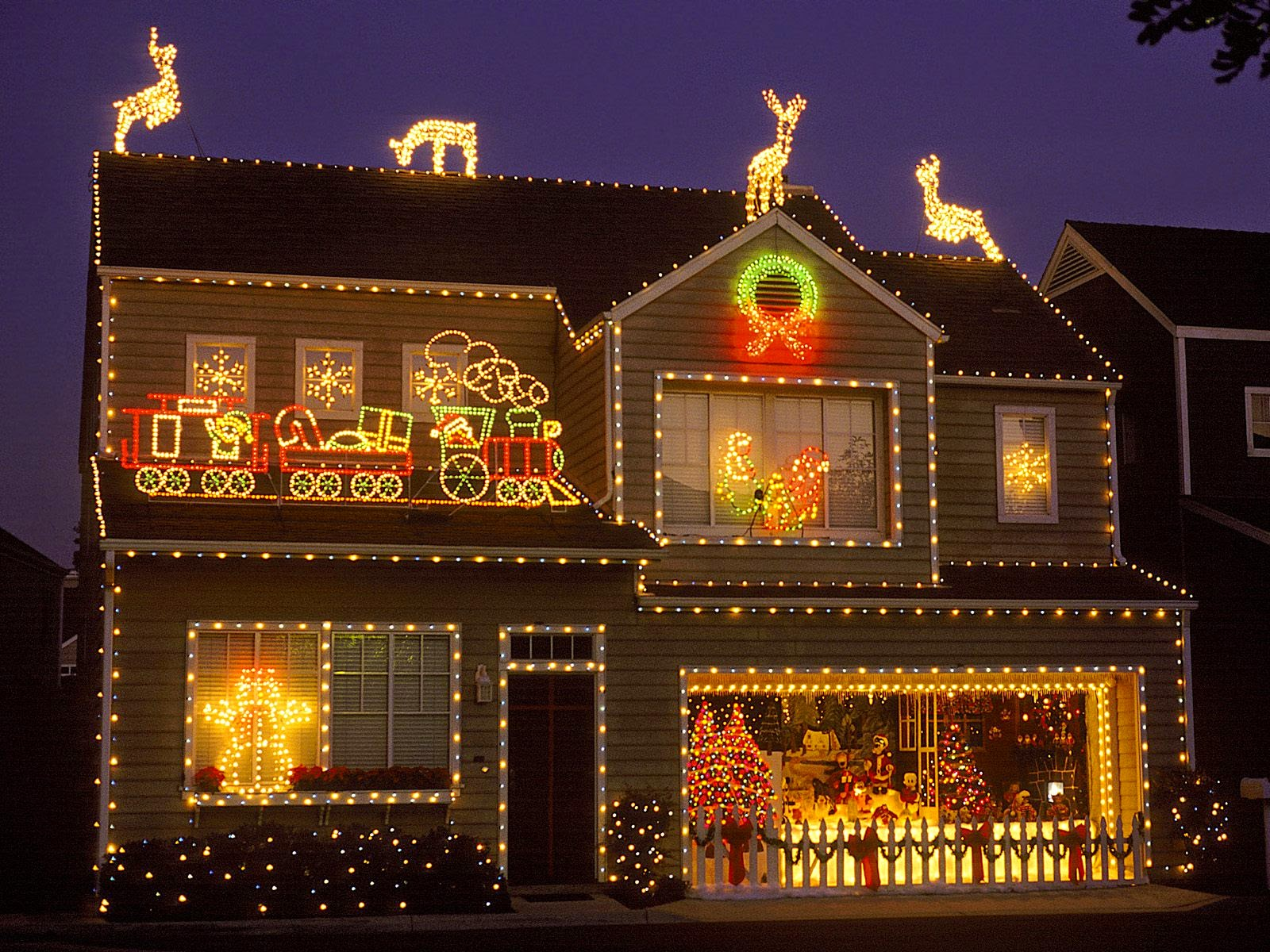 Merry Christmas 2015 Outdoor Light Decoration Images 1080p