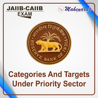 JAIIB-CAIIB Special 19- CATEGORIES AND TARGETS UNDER PRIORITY SECTOR