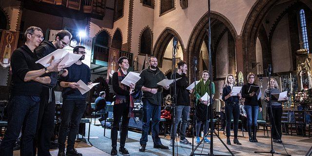Paul McCreesh, Gabrieli Consort & Players recording Purcell's semi-operas (Photo Sim Canetty-Clarke)