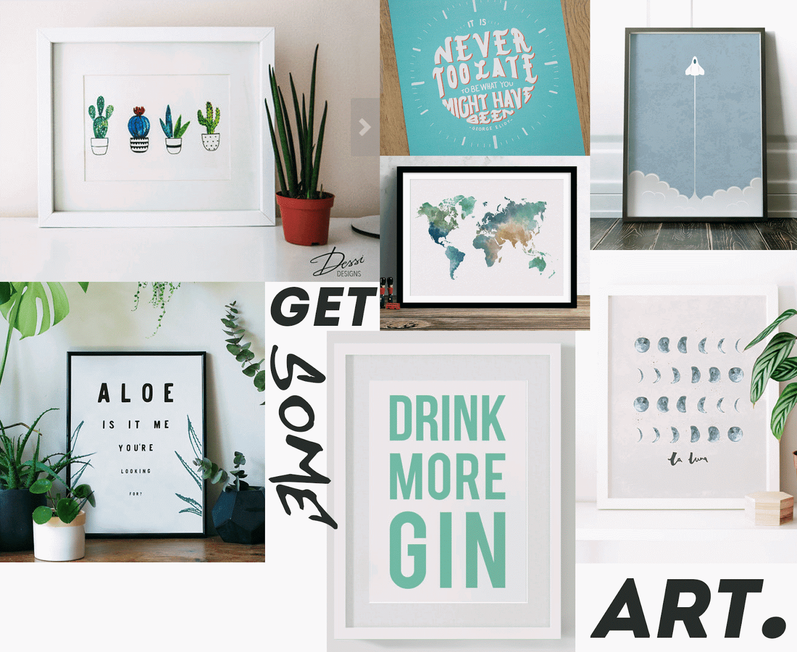 WALL ART prints independent artist gift guide