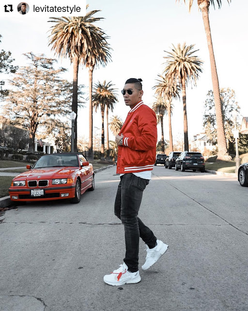 8 Valentine's Day Outfits for Men - Red Bomber Jacket