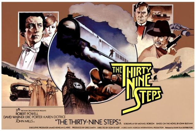 British poster for The Thirty Nine Steps (1978)