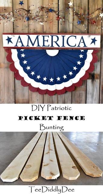 Patriotic picket fence