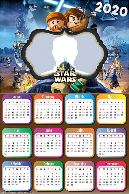 Lego Star Wars: Free Printable 2020 Calendar
