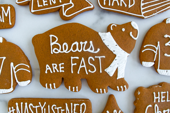 "The Catholic Guy Show Gingerbread Cookies, ""Bears are Fast"" inspired by Tyler Veghte"