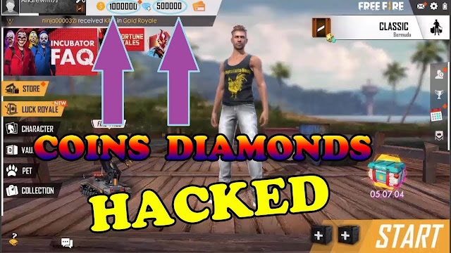 Free Fire Hack Gratuito Diamanti E Monete Gratis