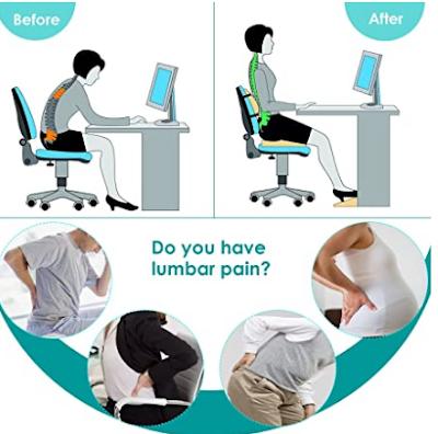¿Es recomendable utilizar un cojín lumbar mientras trabajamos?