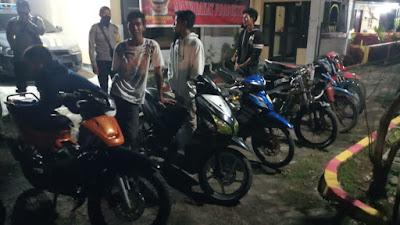 Bikin Bising, 7 Motor Knalpot Racing Terjaring Razia