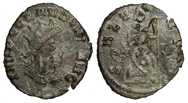 Billon antoninianus of Claudius II Gothicus, 268-270 CE.