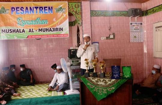 Wakil Bupati Pasbar Buka Pesantren Ramadhan 1442 H di Mushala Al-Muhajirin