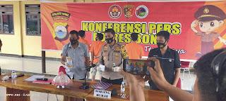 Kapolres Bone Pimpin Konferensi Pers Pengungkapan Kasus Narkotika