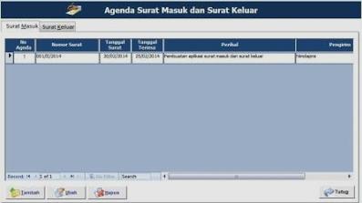 Download Aplikasi Agenda Surat Masuk dan Surat Keluar Gratis terbaru