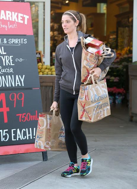 Ashley Greene in Spandex – Leaving Bristol Farms in West Hollywood