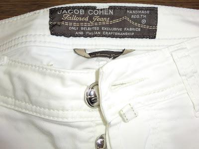 Jacob Cohen ヤコブコーエン コットンパンツのしみ抜き写真 金沢市で高級ブランド品のクリーニングとシミ抜きの上手い店