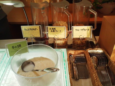 ビュッフェコーナー:シリアル オーセントホテル小樽カサブランカ