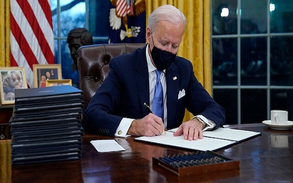 List of Executive Orders Biden signed on Day One as US President