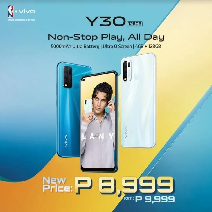 PRICE DROP ALERT: Vivo Y30 with Ultra O Display, and 5,000mAh Battery Now Only Php8,999