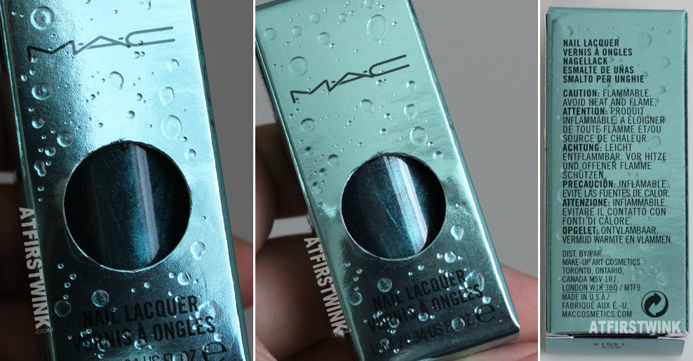 MAC Alluring Aquatic nail lacquer - Submerged box