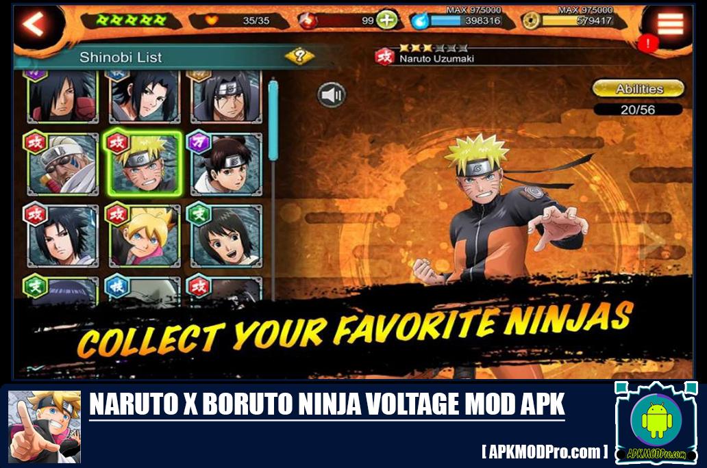Download Naruto X Boruto Ninja Voltage MOD APK 4.1.0 [Unlimited Money]