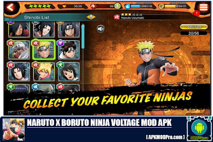 Naruto X Boruto Ninja Voltage MOD APK 4.1.0 [Unlimited Money]