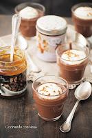 Crema de chocolate con mascarpone y mermelada de café de Can Bech