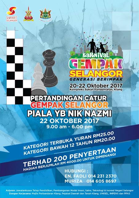 Kejohanan Catur Amatur Piala YB Nik Nazmi (22 Oktober 2017)