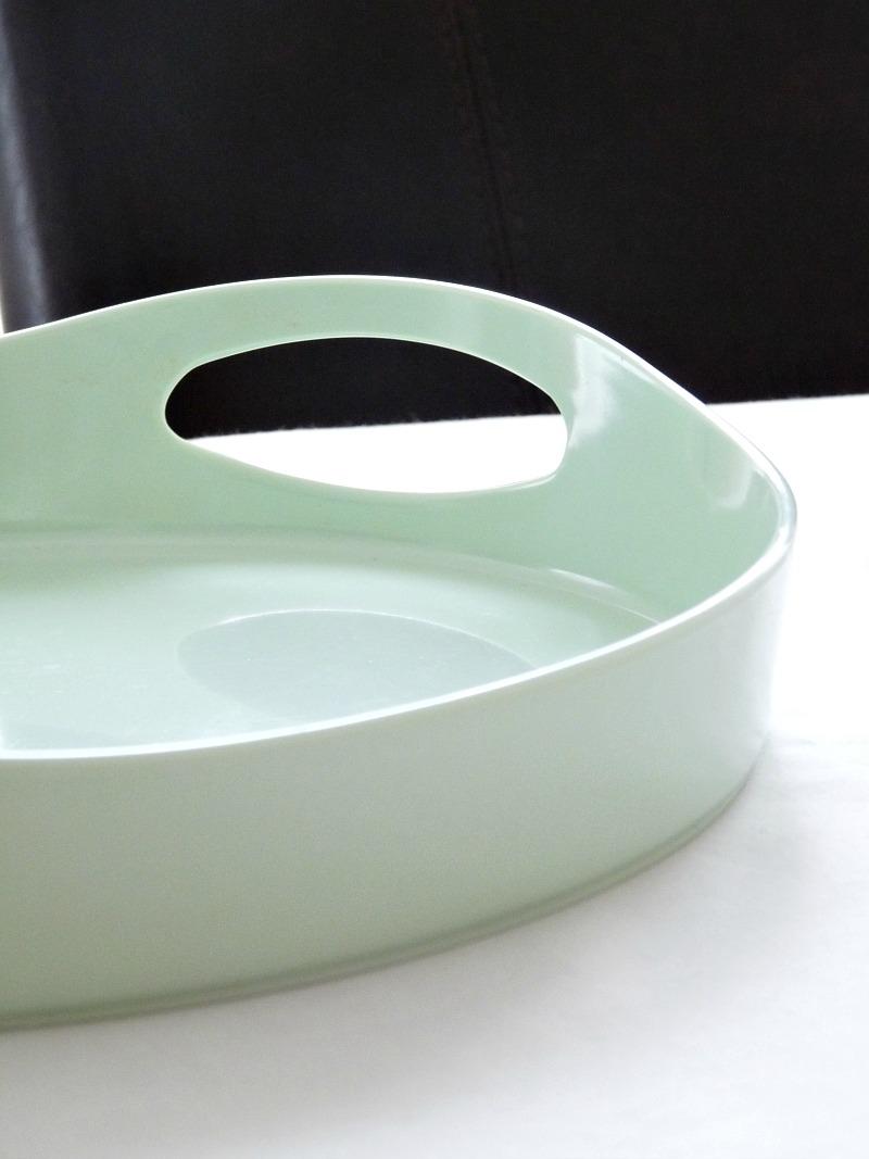 Mint melamine tray