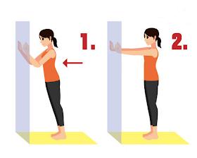 撐著牆壁8秒,淋巴通了、甩開掰掰袖超簡單!