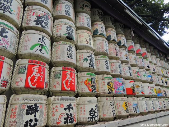 Barriles de Sake del Santuario Meiji, Tokio
