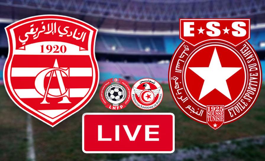 Live streaming Match Club Africain vs Etoile Sportive Du Sahel