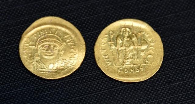 68 early Byzantine gold coins found in northwest Turkey