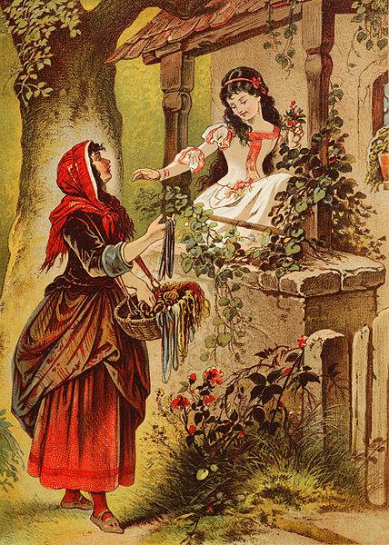 """""""Blancanieves"""". Ilustración de Carl Offterdinger"""