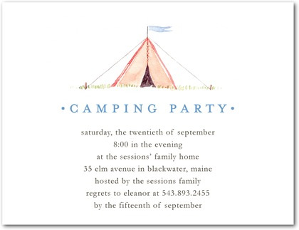 Circle The Date Events LLC Camping Theme Party