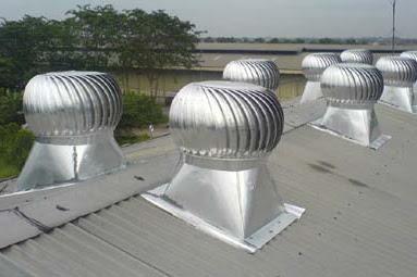 Turbin Ventilator Untuk Mengatasi Panas dan Lembab Dalam Bangunan
